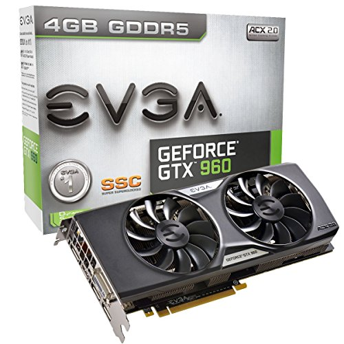 EVGA 04G-P4-3967-KR NVIDIA GeForce GTX960 Grafikkarte SuperSC ACX 2.0+