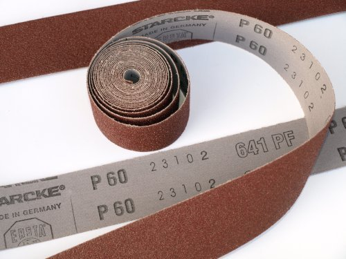 Chiffon Rouleau émeri Grain 180 40 mm x 5000 mm Grain 180 5 m de haute qualité rouleau Atelier abrasif Starcke Flexible Chiffon