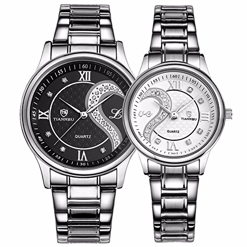 Fq-102 Stainless Steel Romantic Pair His and Hers Wrist Watches for Men...