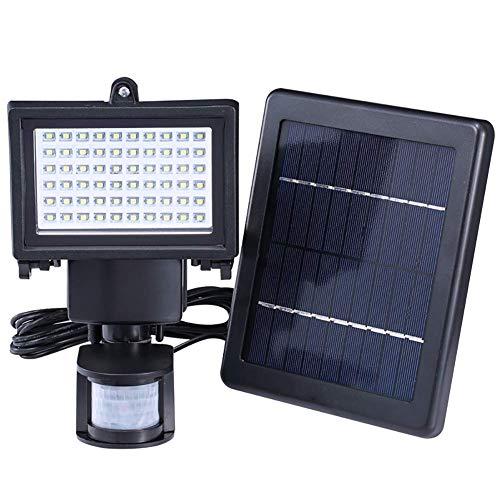 Luz de segurança Solar de 100 Leds Externa, projetor de segurança com...