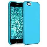 kwmobile Funda Compatible con Apple iPhone 6 / 6S - Funda Carcasa de TPU para móvil - Cover Trasero en Azul Turquesa