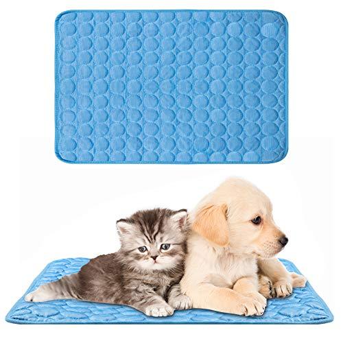 XiYee Alfombrilla de Refrigeración, Cojín para Perros Plegable y No Tóxico, 70 x 55cm Alfombra Refrescante, Impermeable y Resistente a la Rotura para Mantener a Las Mascotas Frescas