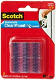 Scotch Mounting, Fastening & Surface Protection, Clear, Scotch Removable Mounting x 1-inch, 16-Squares (859-MED), 1 Pack