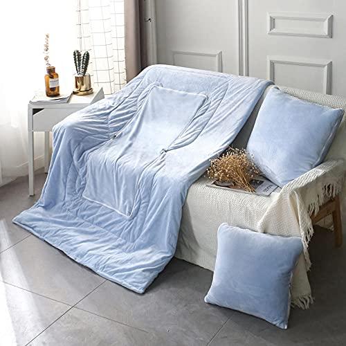Almohada, Almohada de Diseño Ergonómico, Adecuada para Todos los Durmientes -Cielo Azul_50 * 50cm