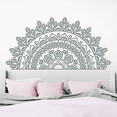 Calcomanía de media mandala para pared, pegatina de vinilo bohemia, pegatina de pared de estudio de Yoga, accesorios de decoración de dormitorio para sala de estar Mandala