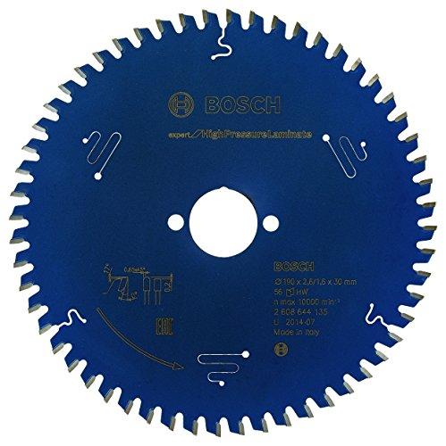 Bosch Kreissägeblatt Expert für High Pressure Laminate, 190 x 30 x 2,6 mm, Zähnezahl 56, 1 Stück, 2608644135