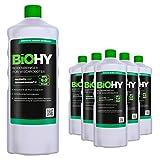 BiOHY Limpiador pisos para robots limpiadores (6 botellas de 1 litro) | Concentrado para todos robot aspirador con función húmeda - sostenible y ecológico (Reiniger für Wischroboter)