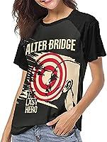 アルターブリッジラストヒーロー野球Tシャツガールサマーレジャートップスファッション半袖Tシャツ-Large