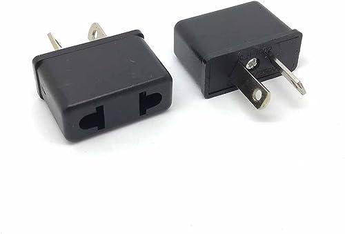 [2 pcs] Universal Travel Power Plug Adapter USA EU Euro Asia to AU Australian Slim 2 Pin