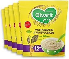 Olvarit Multigranen & Maisvlokken 15+ maanden - pap - 5x 200 gram - babyvoeding