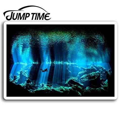 FAFPAY Sticker de Carro Tiempo de Salto para Buceo Submarino Pegatinas de Cueva Pegatina de Vinilo Equipaje portátil camión para Ventanas calcomanía d Accesorios de Agua a Prueba de AguaEstilo A