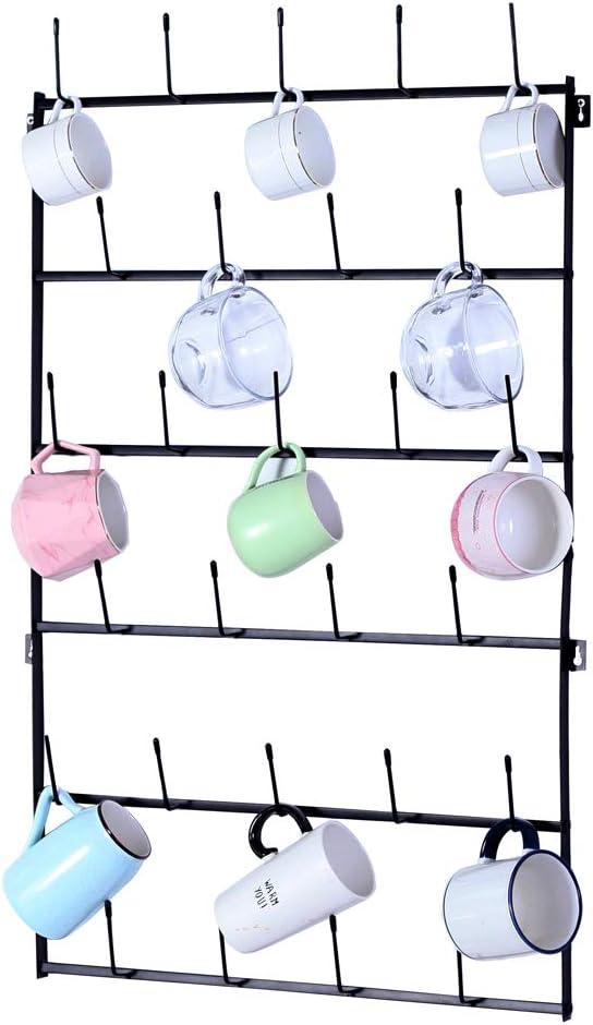 6-Tier Direct store Display Organizer Wall Mounted wit Home Very popular Mug Storage Hooks