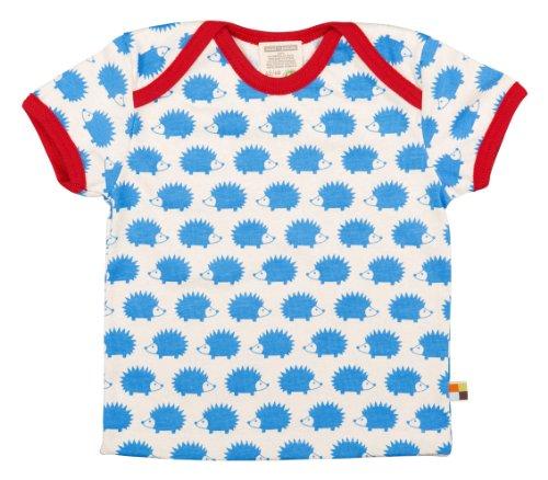 Loud + Proud Unisex - Baby T-Shirts Tierdruck 204, Blau (sky sk), 110/116