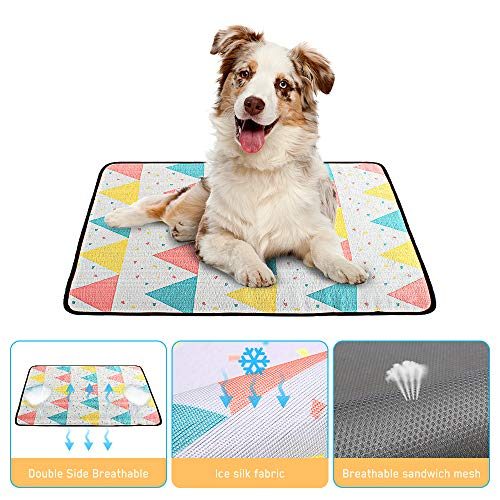 E-More Tappetino Refrigerante per Cani Gatti, Tappetino per Cane, Tappetino Rinfrescante per Cani e Gatti, Tappetino Rinfrescante Impermeabile, Cuccia Estiva per Cani, (22.8X31.4in)