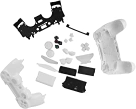 Prettyia Full Housing Shell Case Button Replacement Part For Sony PS4 White