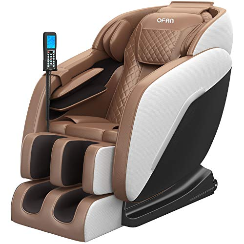 OFAN 2021 New Massage Chair,with Bluetooth Fullbody airbags 8 Point Rollers,Golden