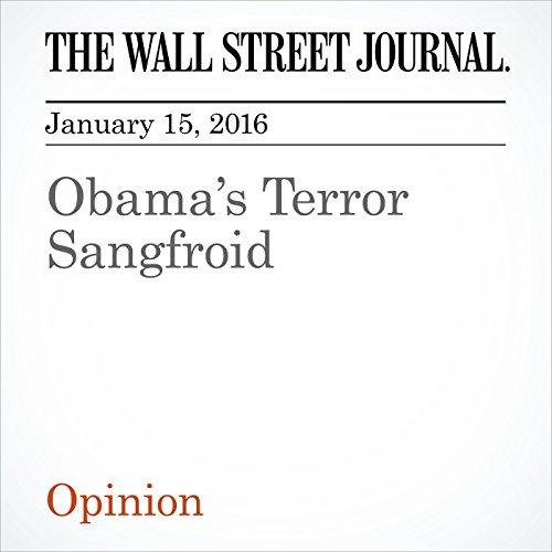 Obama's Terror Sangfroid cover art