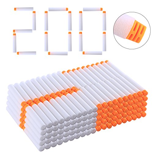 Batop Leuchtpfeile, 200 Stück Leuchtende Pfeile Weiß Pfeile für Nerf Modulus