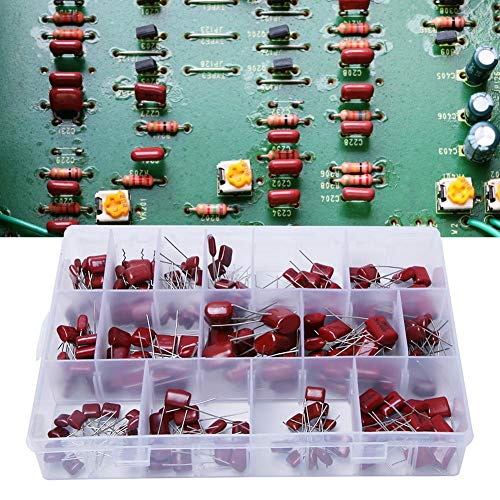 Akozon Condensateur Assortiment 100pcs 10 Ensemble de condensateurs de film en polypropyl/ène CBB 10nF ~ 470nF