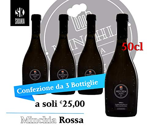 Birra Minchia Rossa 50cl ( kit da 3 bottiglie )