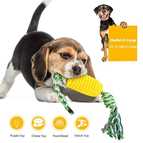 Beewarm Spielzeugseile für Hunde Naturkautschuk Mais Hund Zahnbürste Hund Kauen Spielzeug Zähne Reinigung Welpen Bürsten Stick Spielzeug