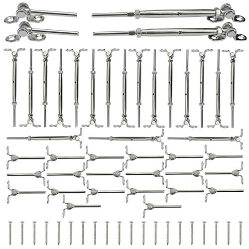 Muzata 20Set Cable Railing Kit 1/8