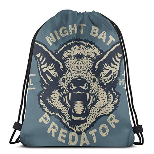 ewretery Drawstring Bags Vintage-Bat Unisex Drawstring Backpack Sports Bag Rope Bag Big Bag Drawstring Tote Bag Gym Backpack In Bulk