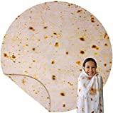 SINEKEL Burrito Blankets for Adults, Kids, Teens, Double Sided Tortilla Blanket, Throw, Novelty Tortilla Blanket for Your Family, 60 in, Soft and Comfortable, Flannel Taco Blanket