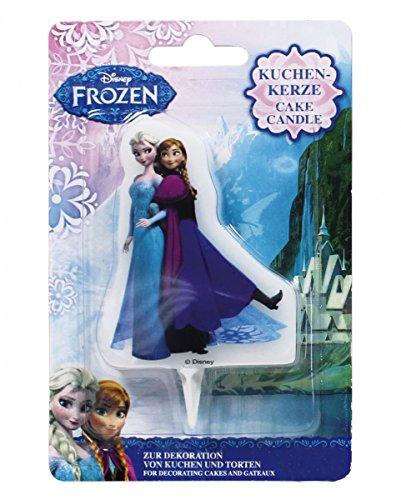 Horror-Shop Kinder-Geburstags Kuchenkerze Frozen - völlig unverfroren ELSA und Anna