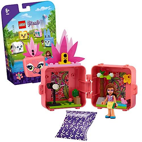 LEGO 41662 Friends Magische Würfel Olivias Flamingo-Würfel Mini-Set Serie 4, Reisespielzeug zum Sammeln