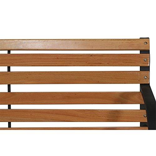 Siena Garden 2er Bank Menorca, 122x62x80cm, Gestell: Stahl, pulverbeschichtet in schwarz, Fläche: Hartholz in natur - 8