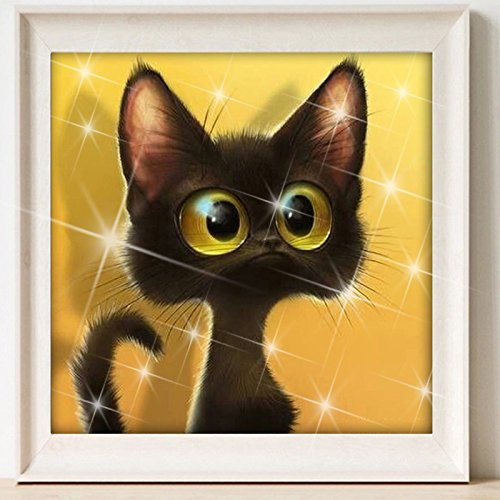DIY 5D Diamond Painting Mosaic Cartoon Cat Handmade Diamond Cross Stitch Kits Diamond Embroidery Pattern Rhinestone Art