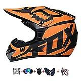 Casco Moto niño,Casco Motocross niño Moto Set con Gafas/M�