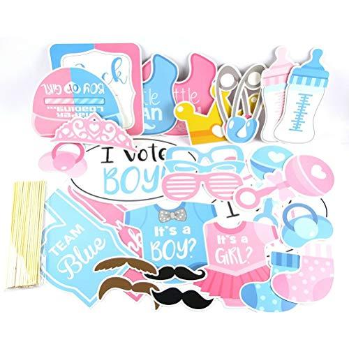 Tixiyu 30 piezas de accesorios para cabina de fotos de niño o niña, para revelar sexo