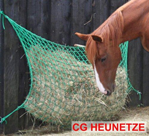 CG Heunetze Tasche/Beutel Gr. L • 1,5 m Breit und 1m Hoch inkl. geschütztem System Zum Öffnen und Schließen • (45 mm Maschenweite) Grün