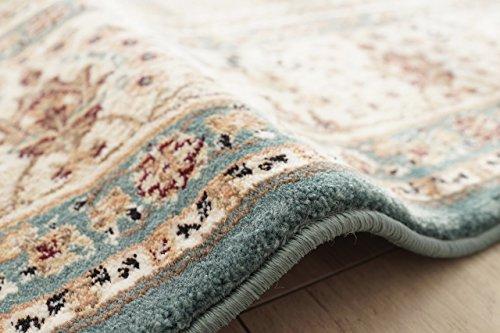 サヤンサヤンORIENTALSTYLE(オリエンタルスタイル)Ⅰウィルトン織りラグマットアクアブルー200x200cm
