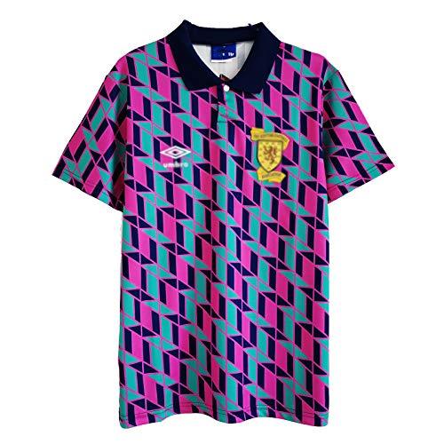 HSSE Scotland Escocia 1988-89 De Distancia De La Camiseta De Fútbol, Uniforme De Fútbol Retro del Ejército De Tartán, Jersey con Punta De Fútbol para Adultos, Regalo De XXL