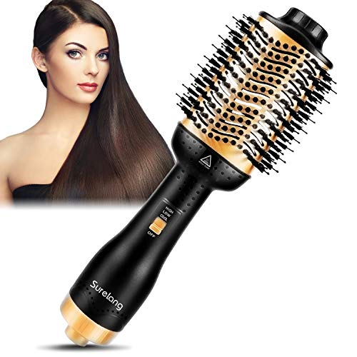 Hair Dryer Brush, Hot Air Brush,One Step Hair Dryer & Volumizer,Upgrade 5 in 1 Hair Blow Styler and Dryer, Negative Ion Portable Air Hot Brush for All Hair Type All In One Dryer