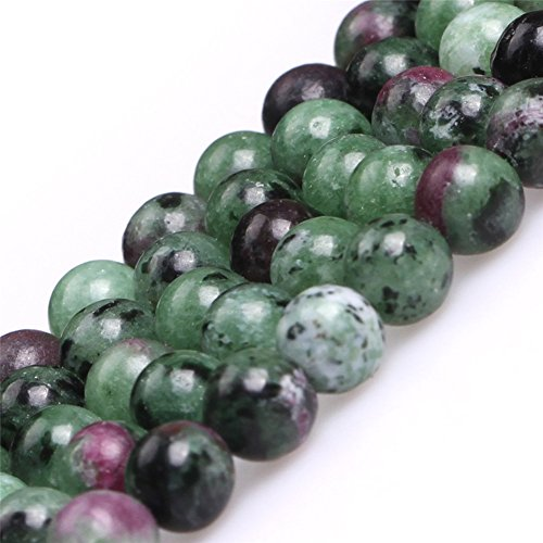 Ruby Zoisite Beads for Jewelry Making Natural Gemstone Semi Precious 6mm Round 15' JOE FOREMAN