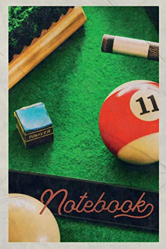 Notebook: Pool table packages Nifty Composition Book Journal Diary for Men, Women, Teen & Kids Vintage Retro Design Billiard Balls colliding