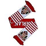 Sunderland AFC - Bufanda de punto oficial del Sunderland AFC Modelo Wordmark con diseño del Escudo (Talla Única/Rojo/Blanco)