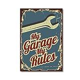 Affiches Vintage Service De Voiture Signe Imprime Garage Rétro Mur Art Toile Peinture Gaz Pièces Auto Batteries Photo Mur Décor40X60 cm Non Encadré
