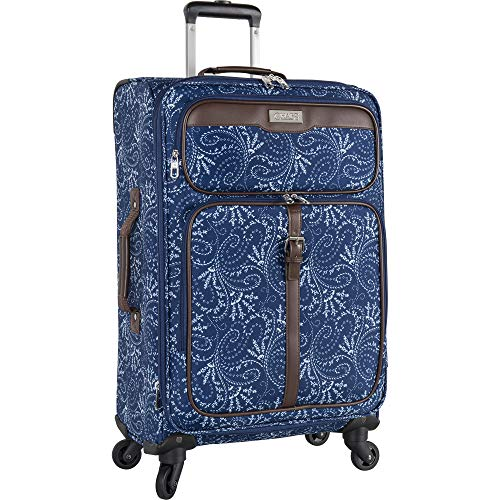 Chaps 28' Expandable Spinner Luggage, Spring Paisley Navy