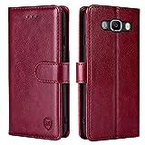 xinyunew Handyhülle für Samsung Galaxy J7 2016/J710 Hülle,Hülle Handyhülle iPhone Leder Flip Hülle Ständer PU Brieftasche Schutzhülle für Samsung Galaxy J7 2016/J710,Rot