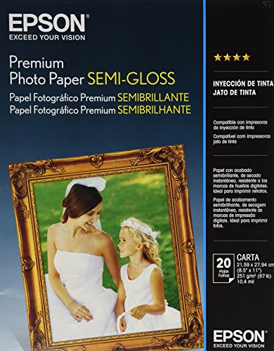 Epson Papel Fotográfico Premium Semibrillante 20 hojas, S041331