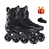 Sljj Inline Skates Adult Black Professional Roller Inline Skates Comfortable Freestyle Racing Skates For Women And Youth Inline Skates