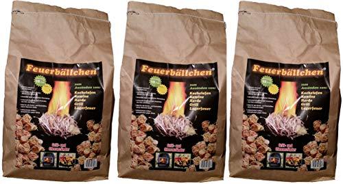 Ingbertson Ofenanzünder Kaminanzünder Feueranzünder Feuerbällchen (Brenndauer ca. 10 min) (12kg, Feuerbällchen)