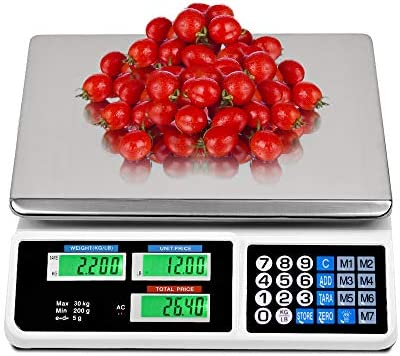 La fete 66LB Digital Weight Price Scale Electronic Price Computing Scale LCD Digital Commercial product image