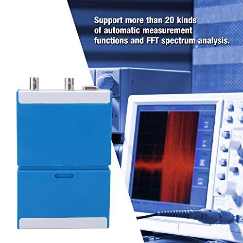 Osciloscopio virtual, Osciloscopio digital Analizador de 2 canales Generador de señal multifunción, El osciloscopio USB para PC admite teléfono Android + computadora, 50 M S/s