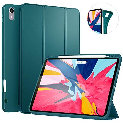 ZtotopCase Hülle für iPad Pro 11 Zoll 2018, Ultradünne Smart Cover Schutzhülle mit Stifthalter, Automatischem Schlaf/Aufwach,Unterstützt Das Aufladen des iPad Pencil, für iPad Pro 11 2018 - Dunkelgrün